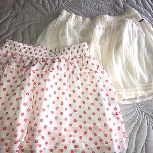 2 high waisted skirt hollister and tommy girl s-m